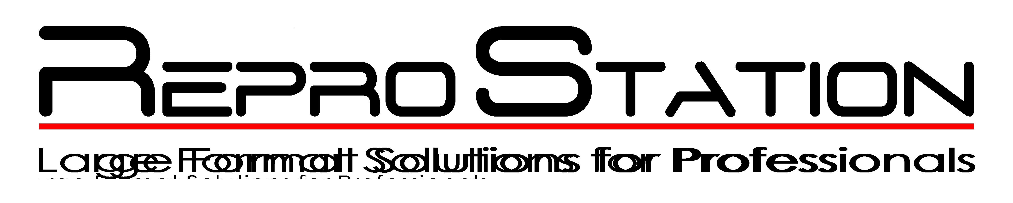 ReproStation Anbieter von Plotter, Scanner, Faltmaschine, Schneidemaschine, Papier, Tinte und Toner-Logo